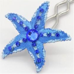 Barrette enfant étoile bleue