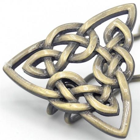 Barrette-chignon-triangle-celtique-dore