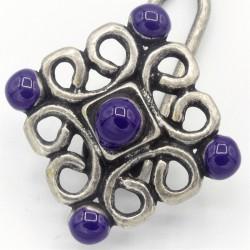 Epingle cheveux métal émaillé violet