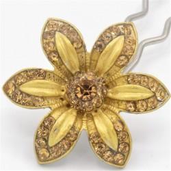 Barrette fleur VIP dorée