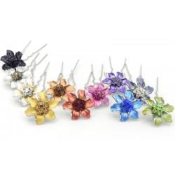 Collection barrette cheveux fleur Marie