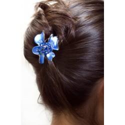 Epingle à cheveux fleur bleue