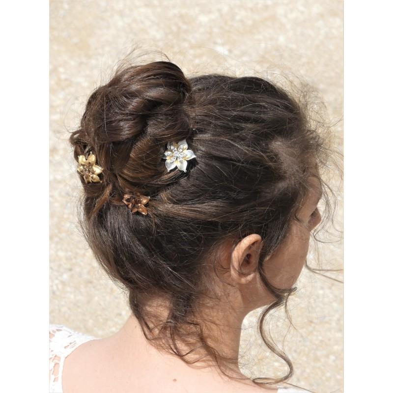 Barrette fleur enfant   coiffure facile a faire  accessoires prix mini
