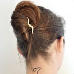 Chignon banane pince coiffure