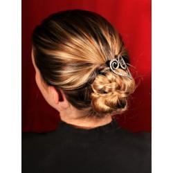 Accessoire coiffure coeur argenté vieilli