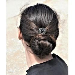 Epingle à cheveux pour chignon bijoux ancien noire