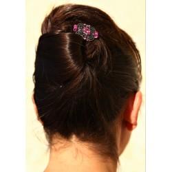 Epingle à cheveux pour chignon bijoux ancien rose