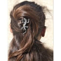 Pique chignon bijoux de cheveux salamandre glamour blanche
