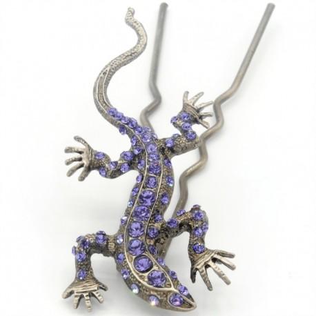 Pique chignon bijoux de cheveux salamandre glamour mauve