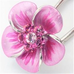 Barrette cheveux petite fleur rose