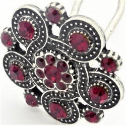 Bijoux de tête petite rosace rouge