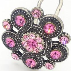 Bijoux de tête petite rosace rose