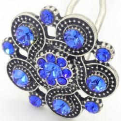 Bijoux de tête petite rosace bleue
