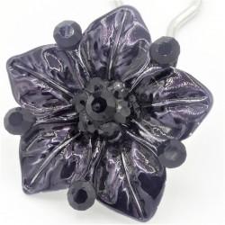 Accessoire cheveux fleur Ferra noire