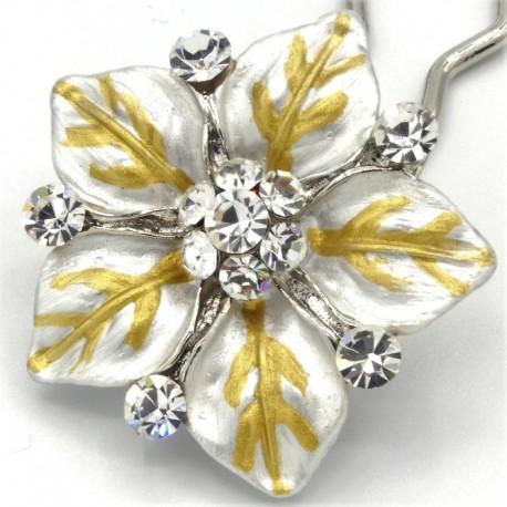 Accessoire cheveux fleur Ferra blanche