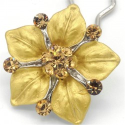 Accessoire cheveux fleur Ferra doree