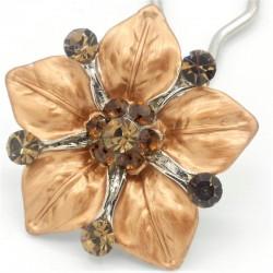 Accessoire cheveux fleur Ferra marron
