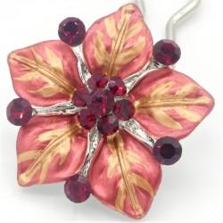 Accessoire cheveux fleur Ferra rouge