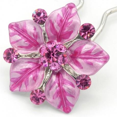 Accessoire cheveux fleur Ferra rose
