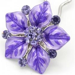 Accessoire cheveux fleur Ferra mauve