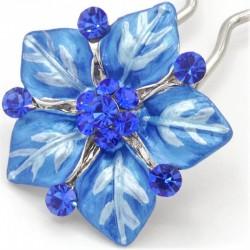 Accessoire cheveux fleur Ferra bleue