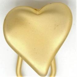 Barrette métal coeur dore soyeux
