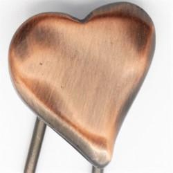 Barrette métal coeur cuivree
