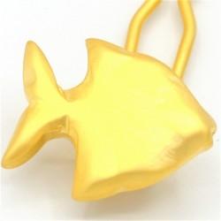 Barrette metal petite fille poisson doré
