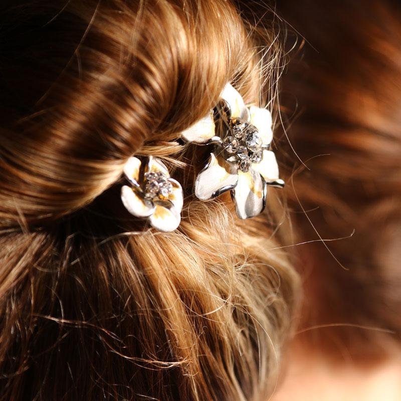 épingle à cheveux fleurs